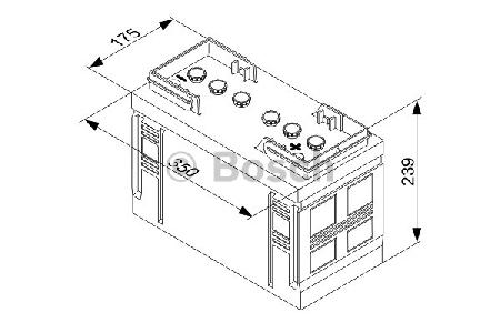 Аккумуляторная батарея Bosch T3, 12 В, 90 А/ч, 540 А, 0092T30300