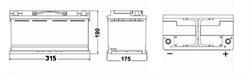 Аккумулятор DETA MICRO-HYBRID 12 V 80 AH 800 A ETN 0(R+) B13 315x175x190mm 23.9kg