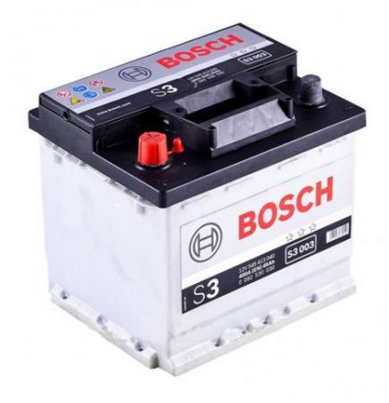 Аккумуляторная батарея Bosch S3, 12 В, 45 А/ч, 400 А, 0092S30030