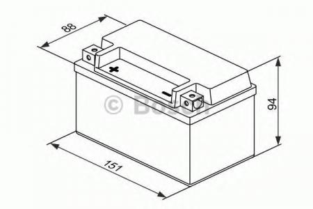 Аккумуляторная батарея Bosch Funstart AGM, 12 В, 6 А/ч, 50 А, 0092M60070
