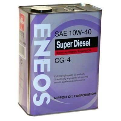 Моторное масло ENEOS DIESEL CG-4, 10W-40, 4л, OIL1328