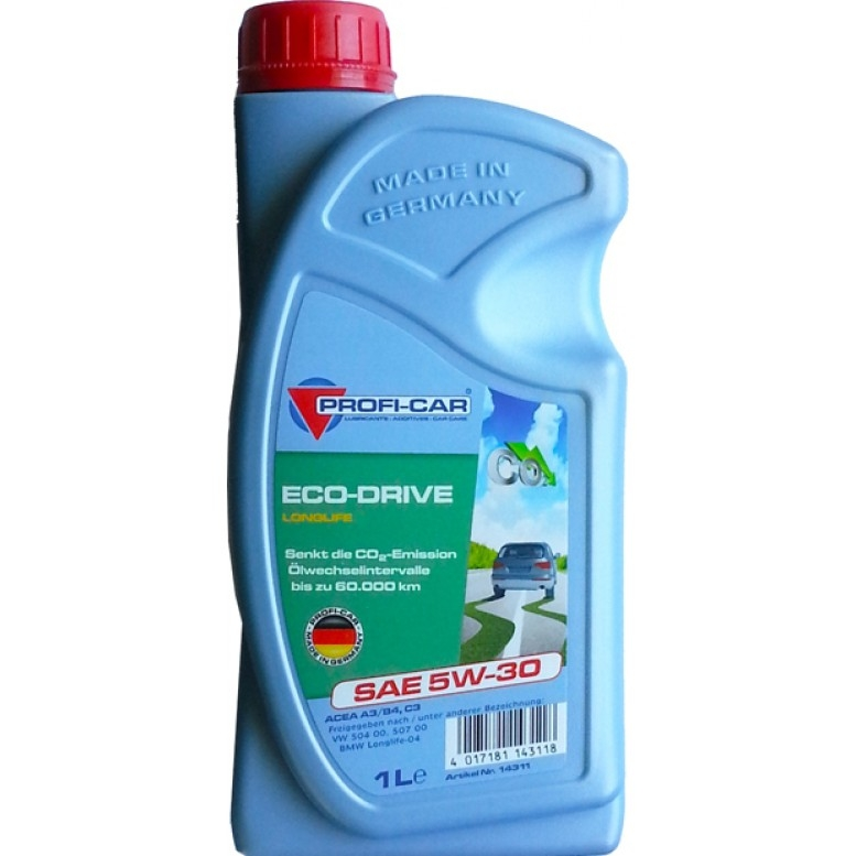 Моторное масло ECO-DRIVE LONGLIFE, 5W-30, 1л, Profi-Car, 5W301LIECODRIVELONGLIFE