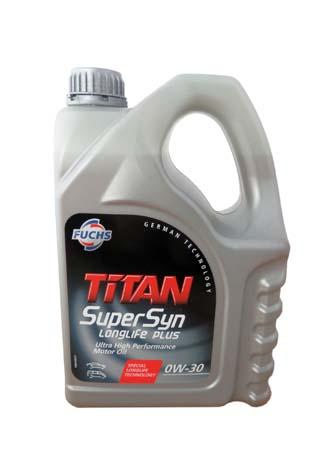 Моторное масло FUCHS Titan SuperSyn Longlife Plus SAE 0W-30 (4л)