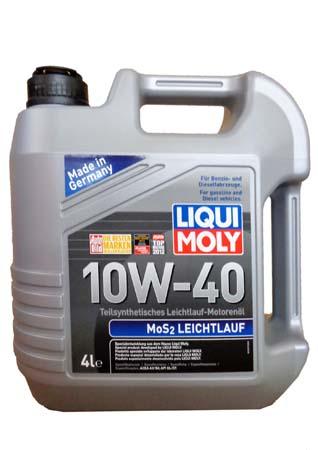 LiquiMoly 10W40 MoS2 Leichtlauf (4L) масло моторное !полусинт.\ API SL/CF,ACEA A3-04, B4-04 LIQUI MO