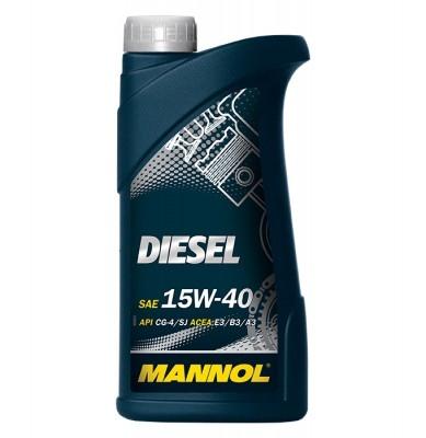 Моторное масло DIESEL, 15W-40, 1л, MANNOL, 1205