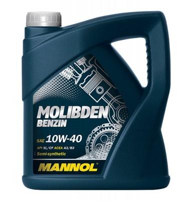 Моторное масло MOLIBDEN BENZIN, 10W-40, 4л, MANNOL, 1121