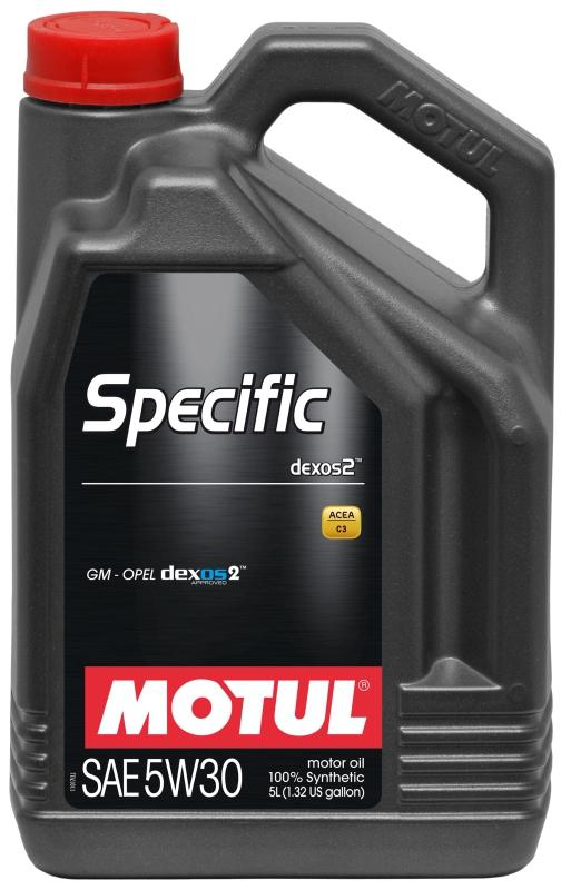 Моторное масло MOTUL Specific Dexos2, 5W-30, 5 л, 102643