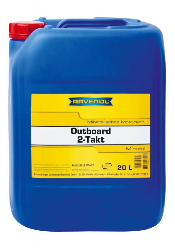 Моторное масло RAVENOL Outboard 2T Mineral, 20л, 4014835728929