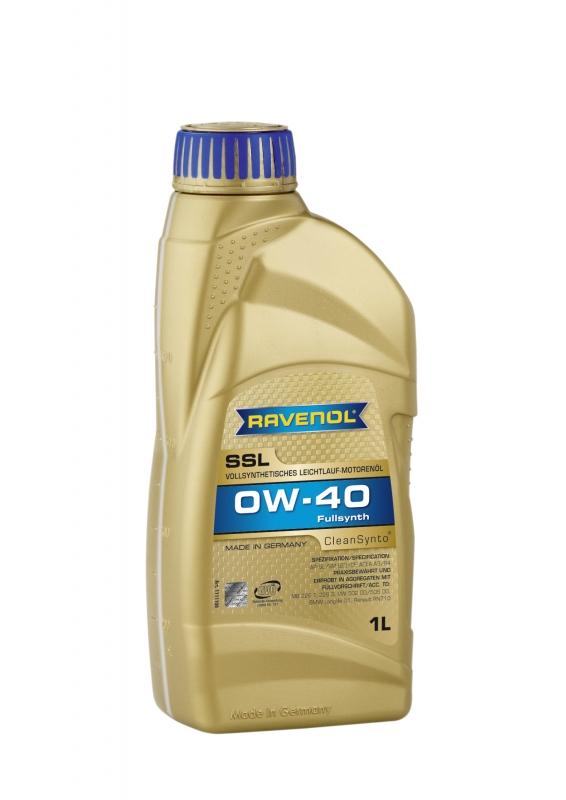 Моторное масло RAVENOL Super Synthetik Oel SSL, 0W-40, 1л, 4014835718715