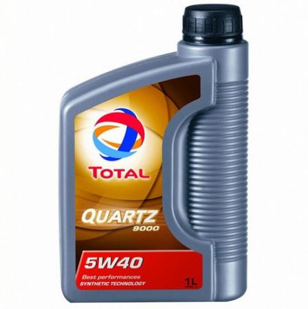 Моторное масло TOTAL QUARTZ 9000, 5W-40, 1л, 166243