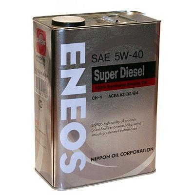 Моторное масло ENEOS DIESEL CH-4, 5W-40, 4л, OIL1338