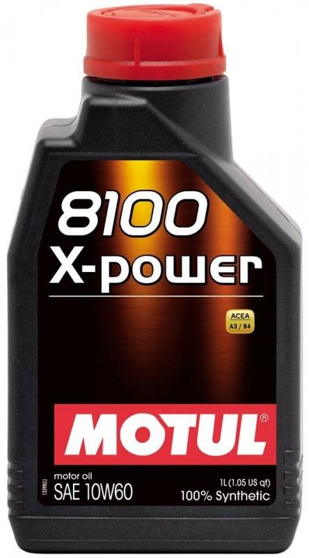 Моторное масло MOTUL 8100 X-Power, 10W-60, 5л, 106144