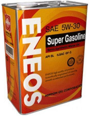 Моторное масло ENEOS SUPER GASOLINE SL, 5W-30, 4л, OIL1361