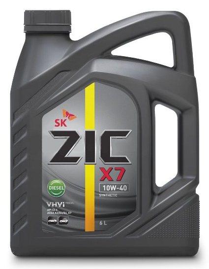 Масло моторное ZIC X7 Diesel 10W-40, 6л, 172607