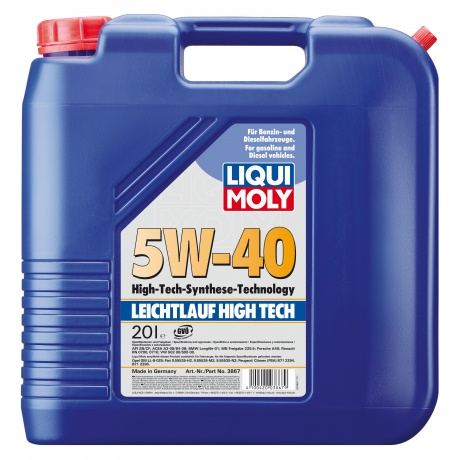 5W-40 SM/CF LEICHTLAUF HIGH TECH 20л ( HC-синтетик.мотор.масло)