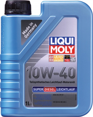 LiquiMoly 10W40 Super Diesel Leichlauf (1L) масло мот!п/син.\ API CF,ACEA B4-04, MB 229.1, VW 505 00